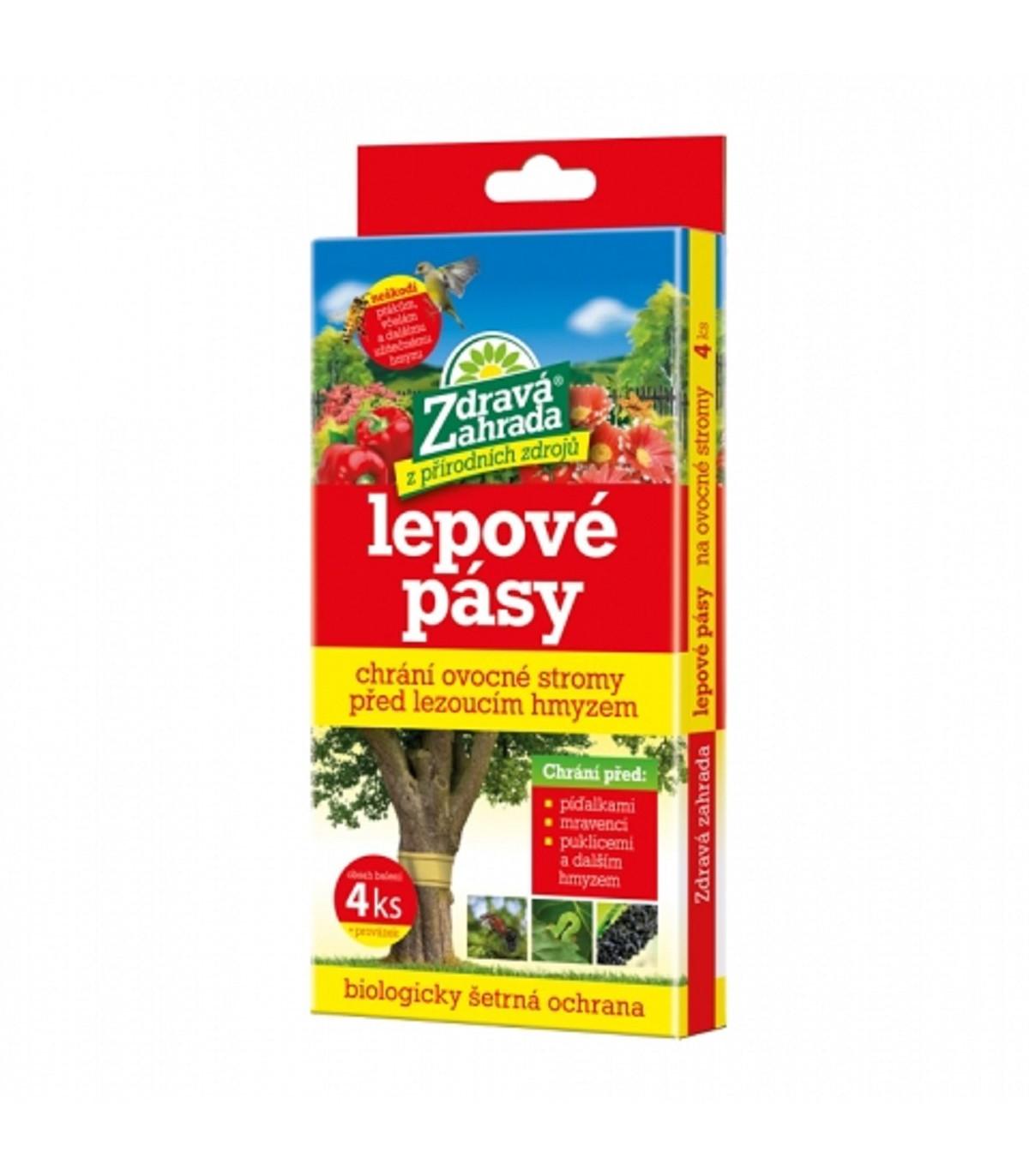 Lepový pás na piadivky a vošky - Zdravá záhrada - ochrana pred hmyzom - 4 ks